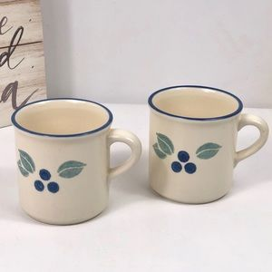 Set of 2 Flat Cup Blueberry  by PFALTZGRAFF